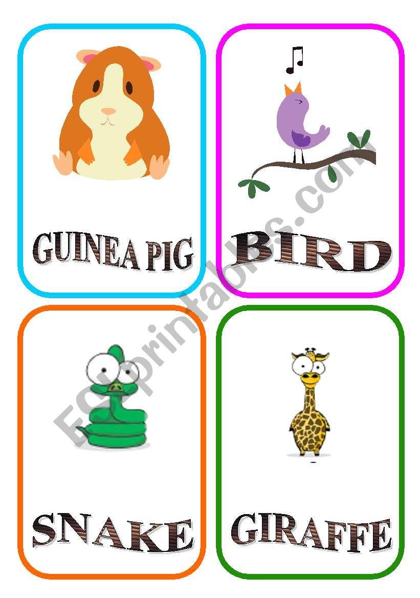 ANIMAL FLASH-CARDS - PART 6 worksheet