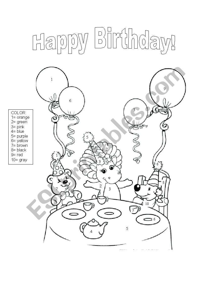 Happy birthday! worksheet