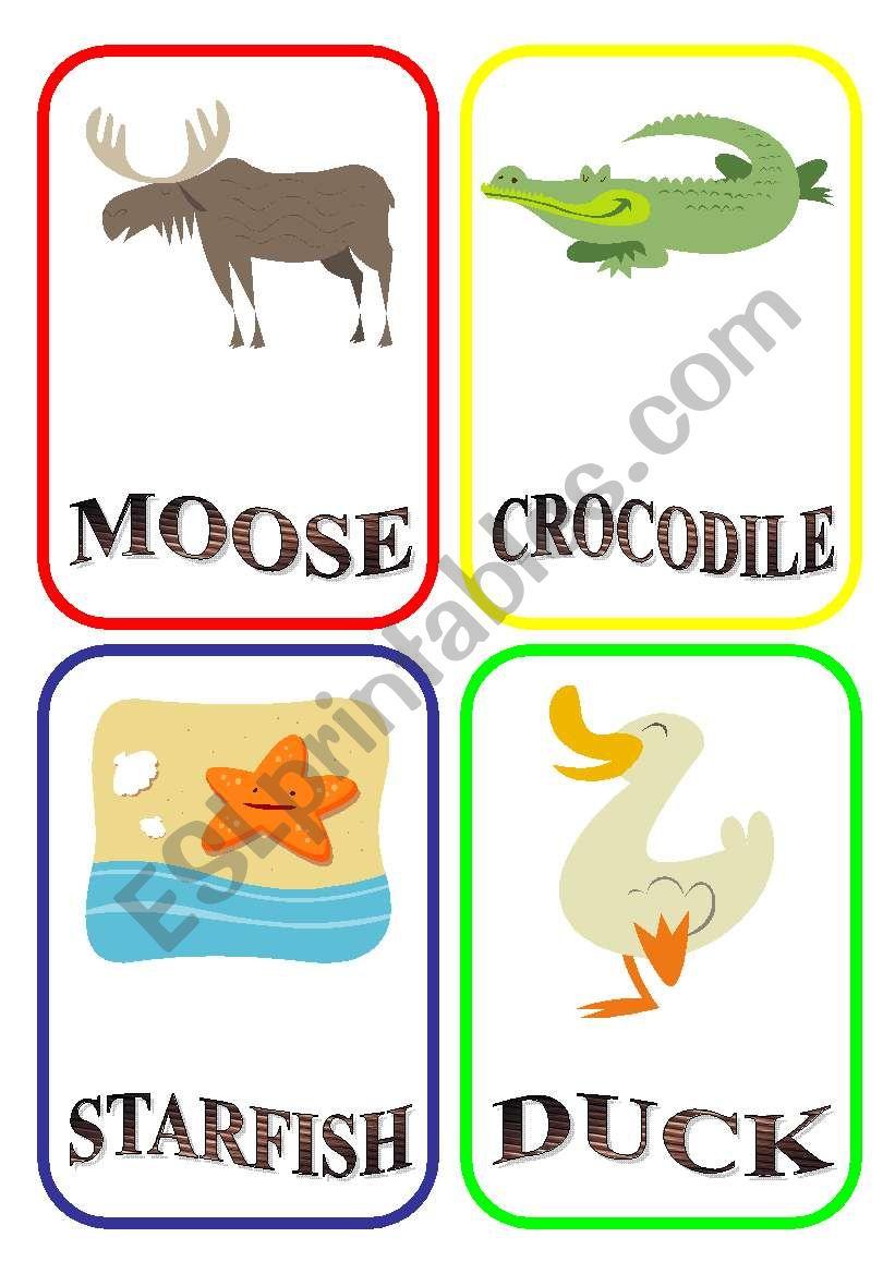 ANIMAL FLASH-CARDS - PART 7 worksheet