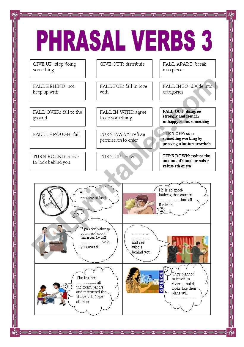 PHRASAL VERBS 3 worksheet