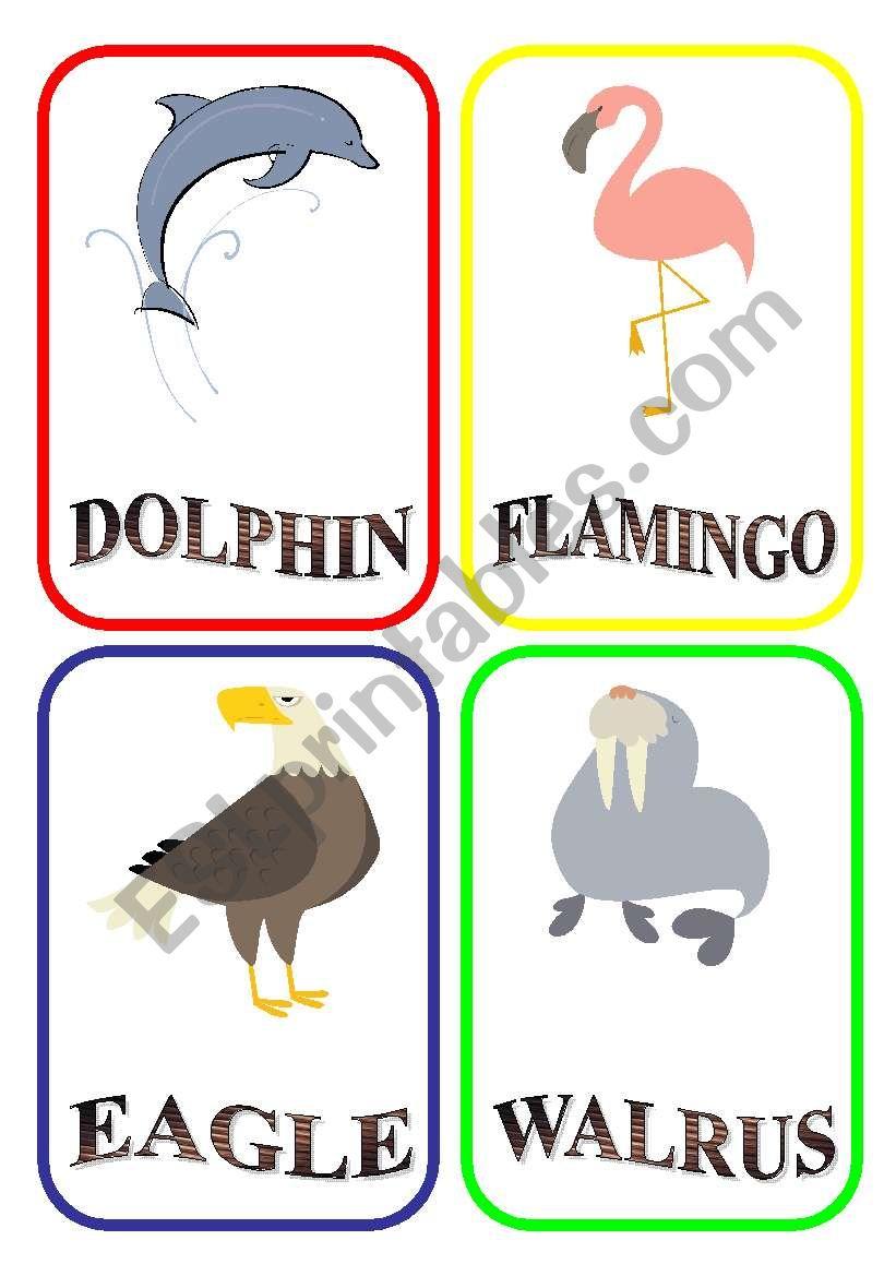 ANIMAL FLASH-CARDS - PART 9 worksheet