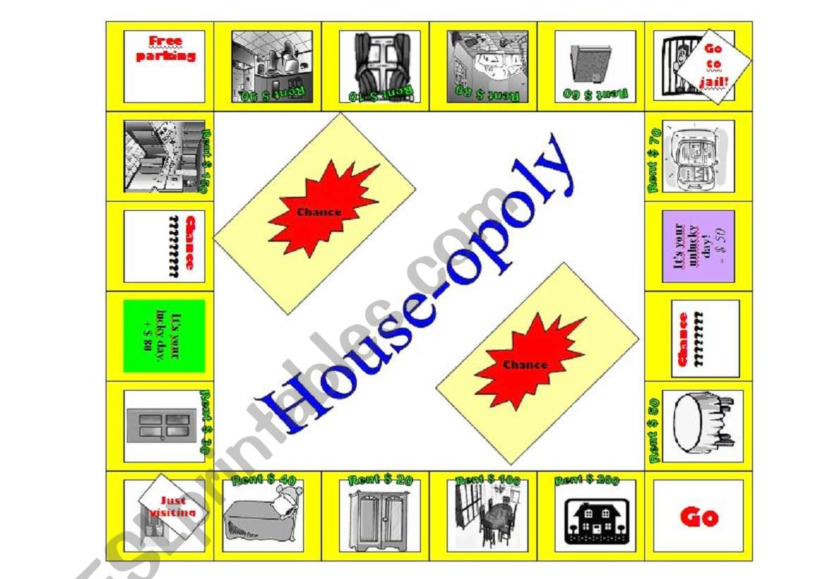 House-opoly  worksheet