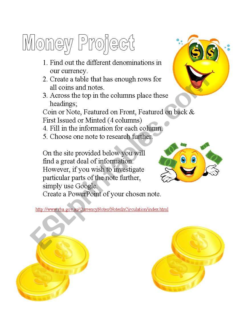 A simple task to complete on Australian Currency