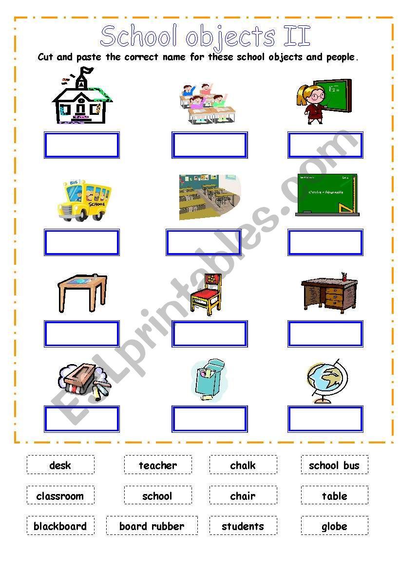 School supplies 2 (school objects)