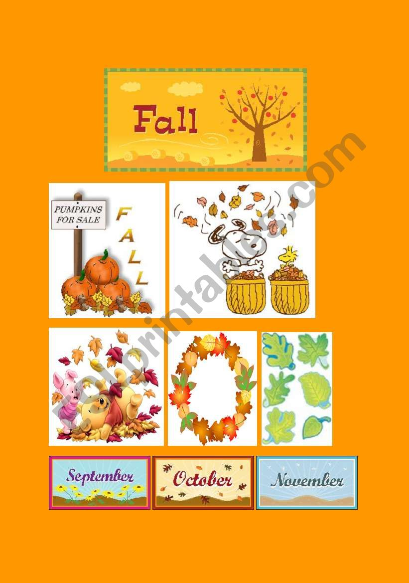 Fall Classroom Poster worksheet