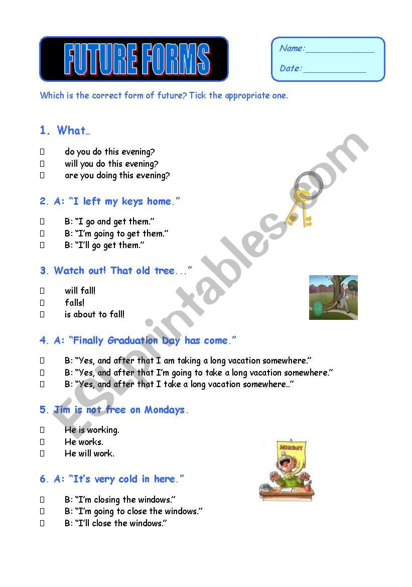 Future Forms - Revision Test worksheet