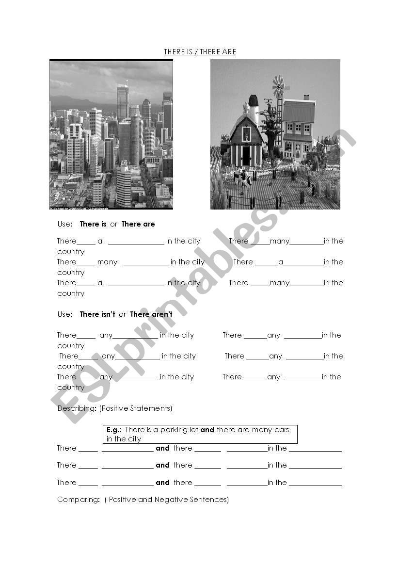 There is and there are worksheet