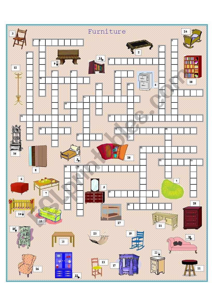 Kind Of Furniture Crossword Best Image Nikotub Com