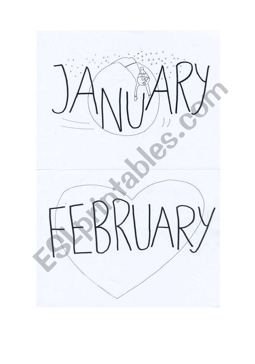 The Months of the Year1 worksheet