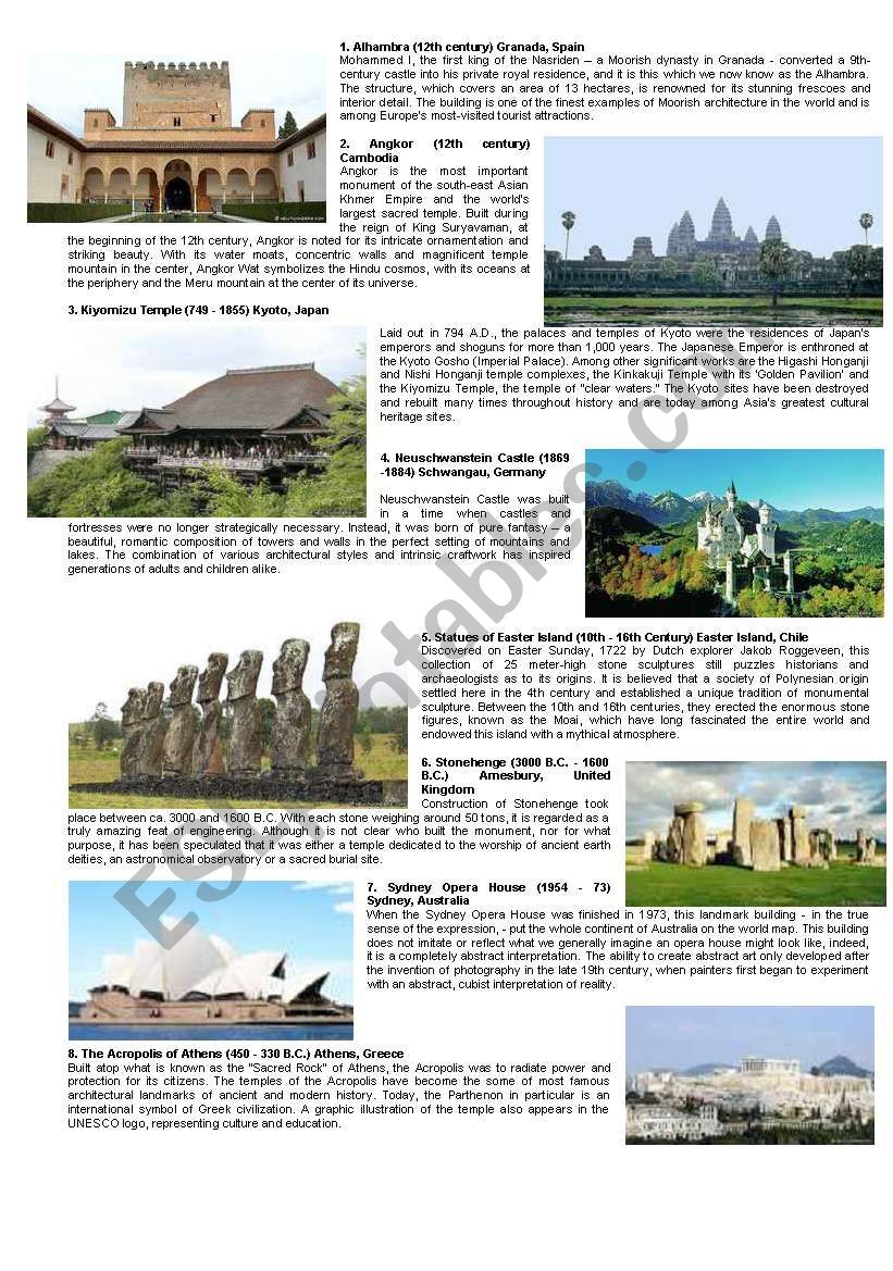 NEW 7 WONDERS OF THE WORLD (Part II)