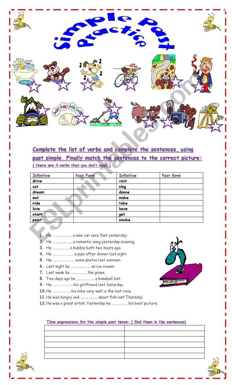 Past Simple Practice worksheet