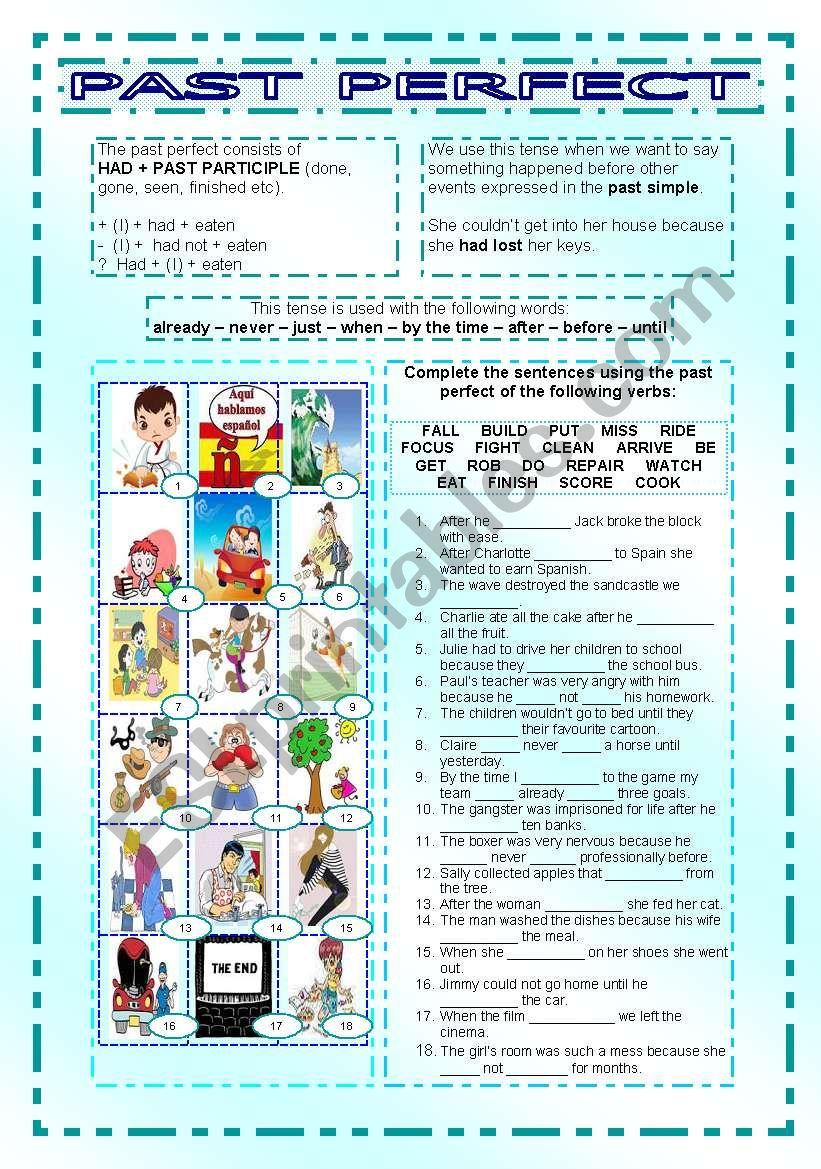 Past Perfect worksheet