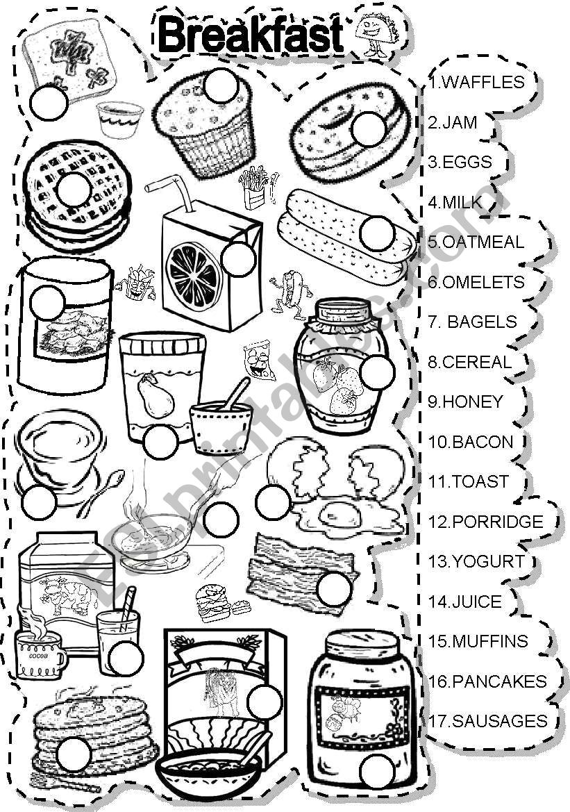 BREAKFAST MATCH  worksheet