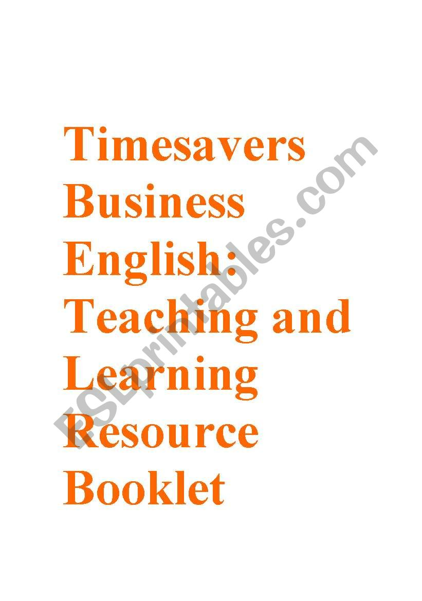 Timesavers Business English Resource Booklet