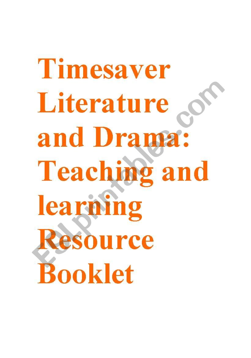 Timesavers Literature Resource Booklet