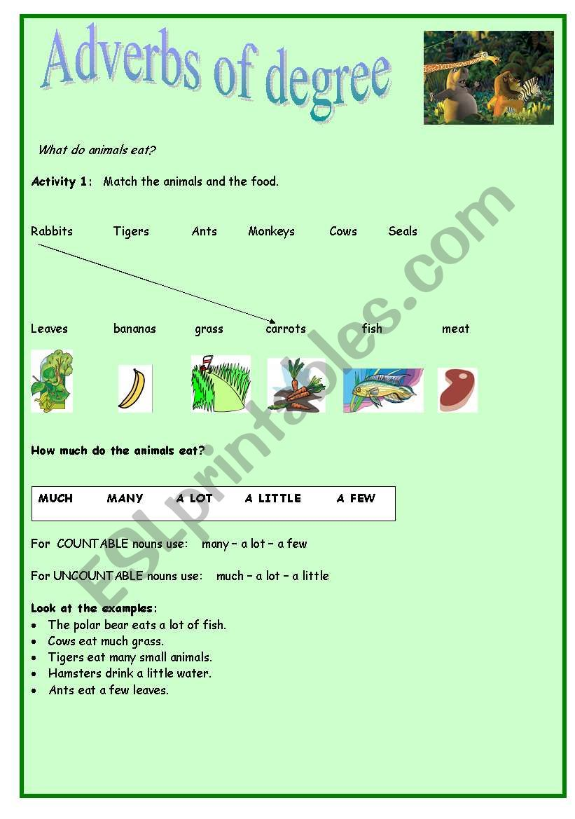 Adverbs Of Degree Esl Worksheet By Carla78