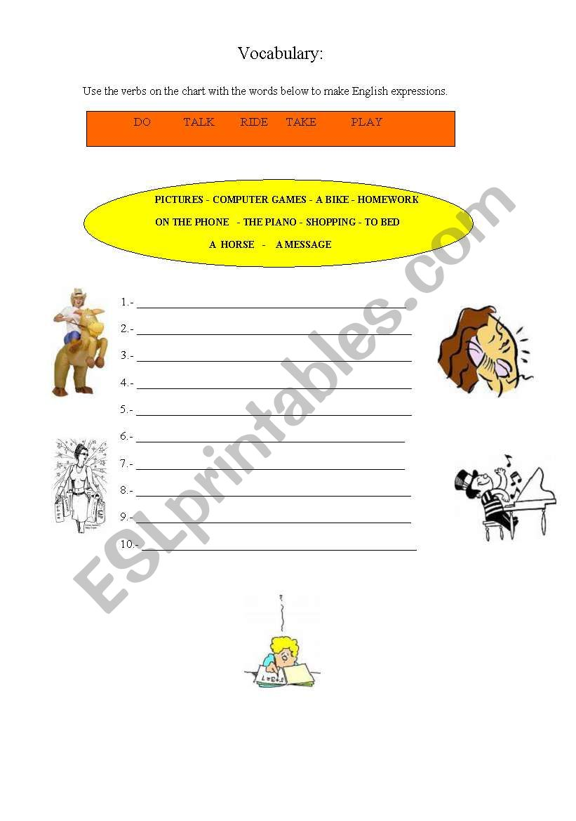 English Expressions worksheet