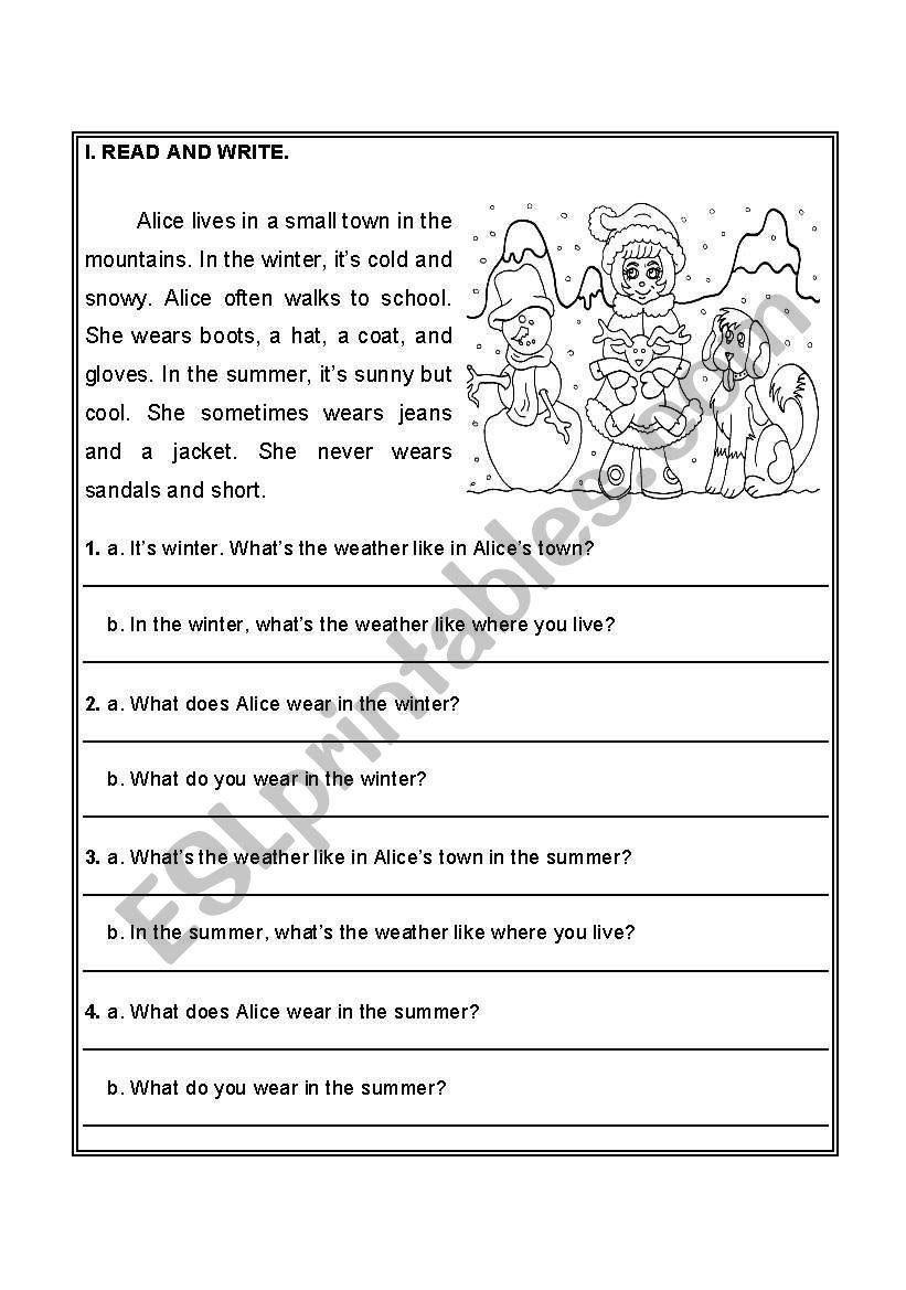 - Reading Comprehension - ESL Worksheet By Cristalicious
