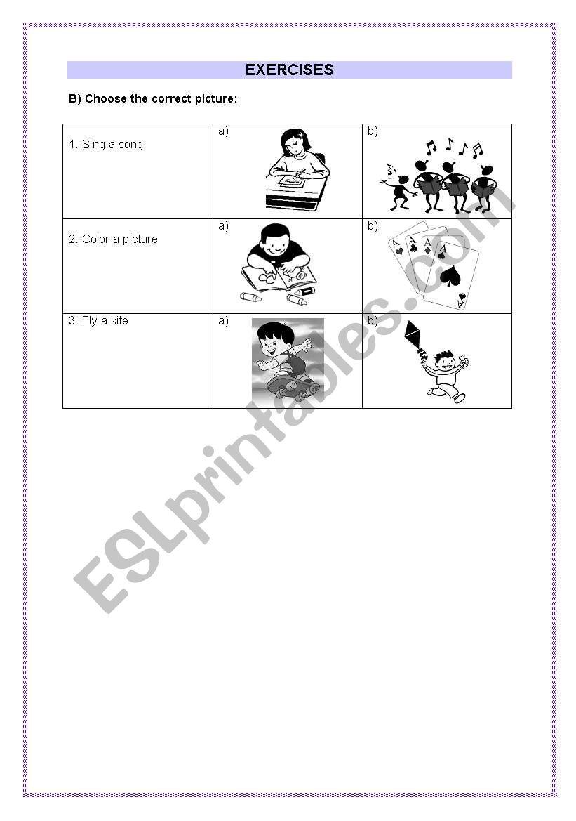 Children exercises - part 2 worksheet