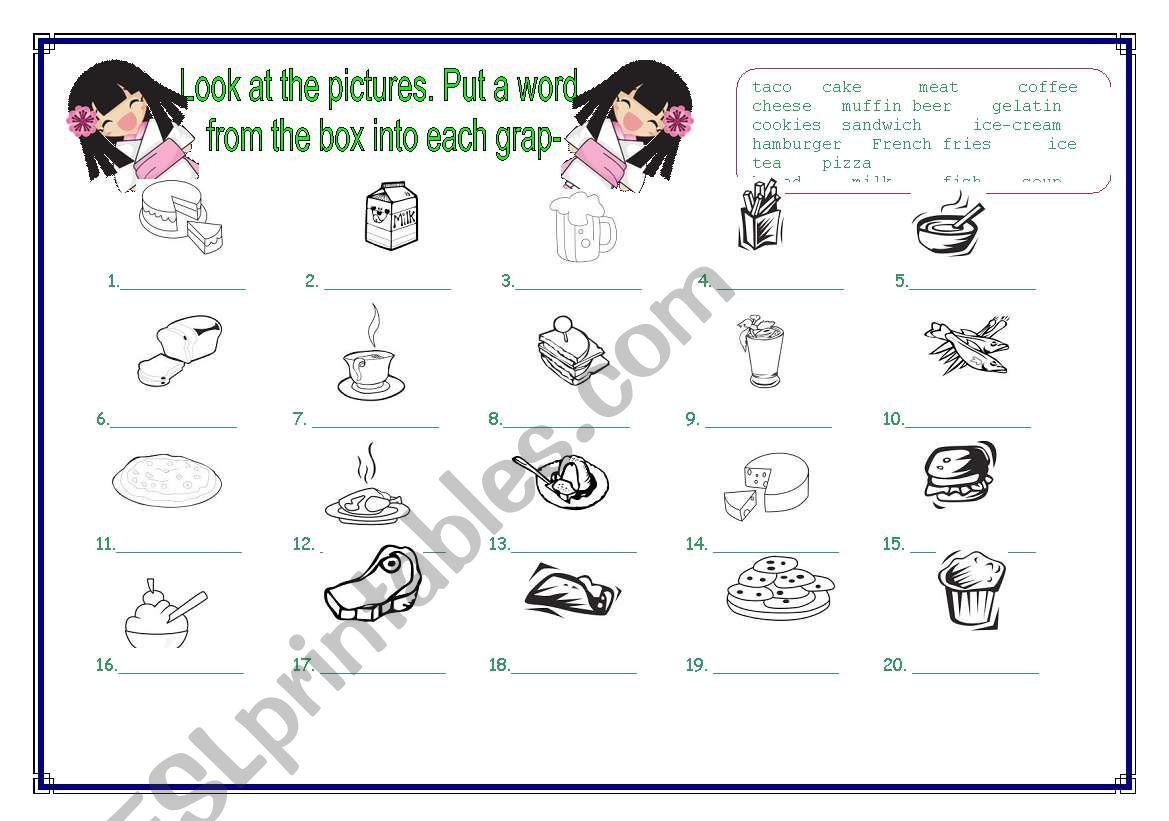 Food_exercise. worksheet