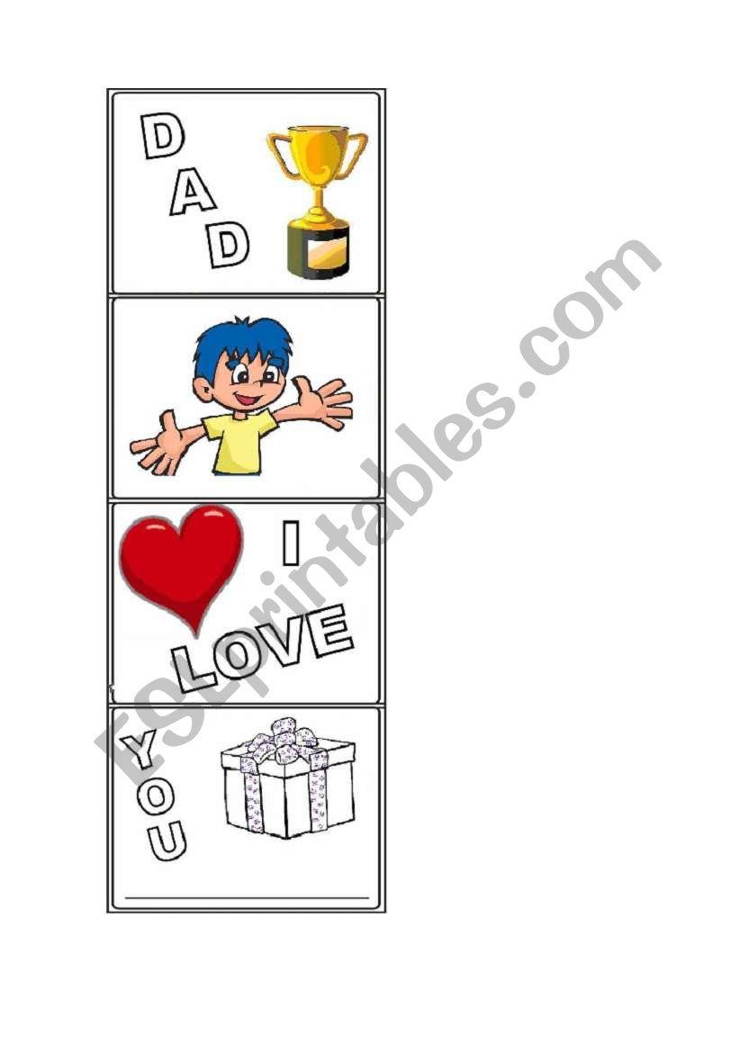 Dad´s day activity - boy worksheet