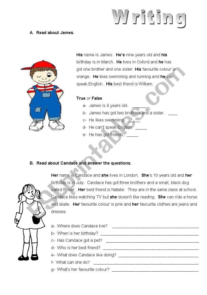 Personal information writing exercise esl worksheet by ana celeste personal information writing exercise ibookread ePUb