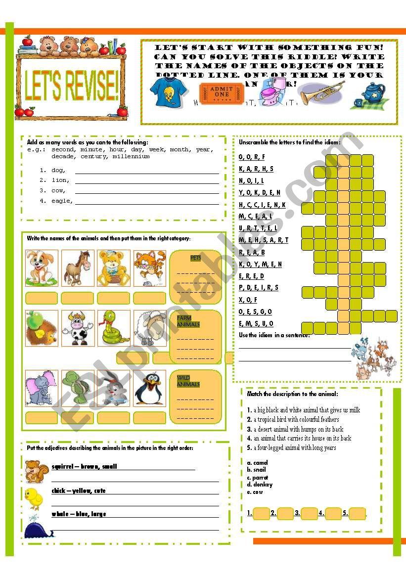 LET´S REVISE! (1) worksheet