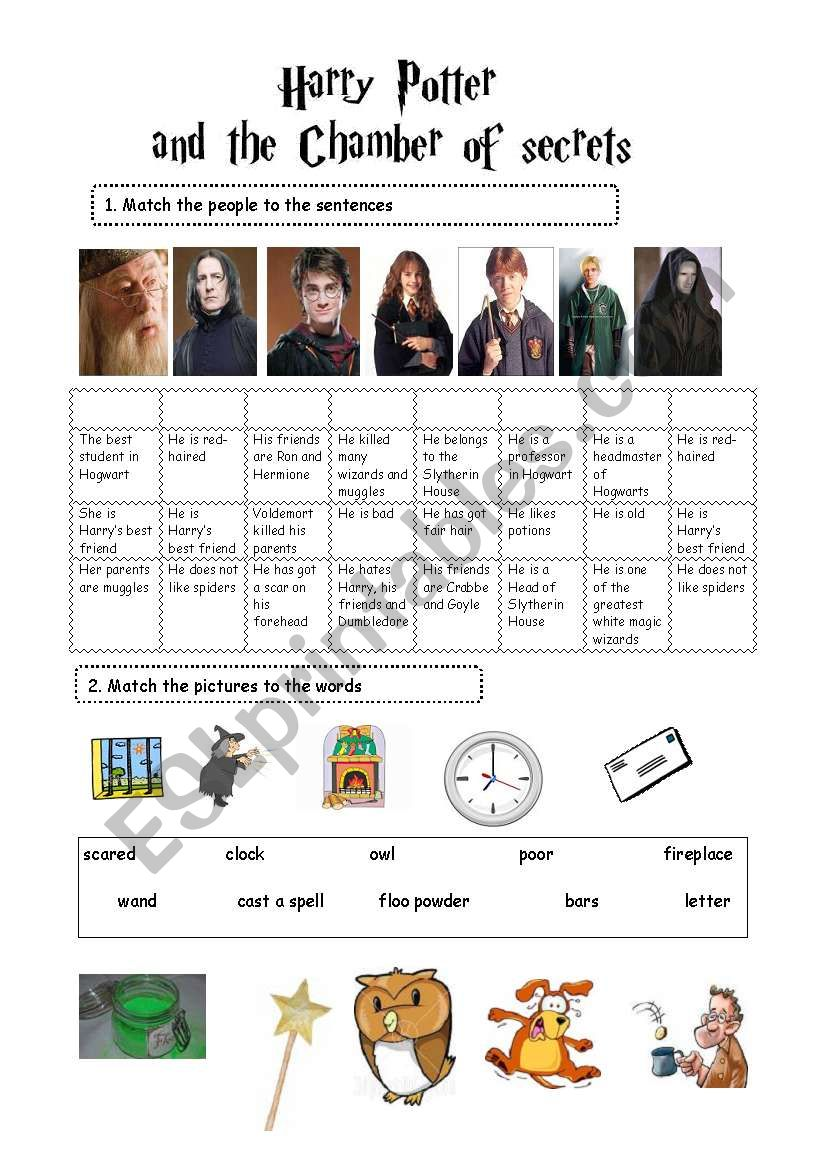 picture relating to Harry Potter Activities Printable referred to as Harry Potter and the Chamber of Insider secrets (2 Webpages