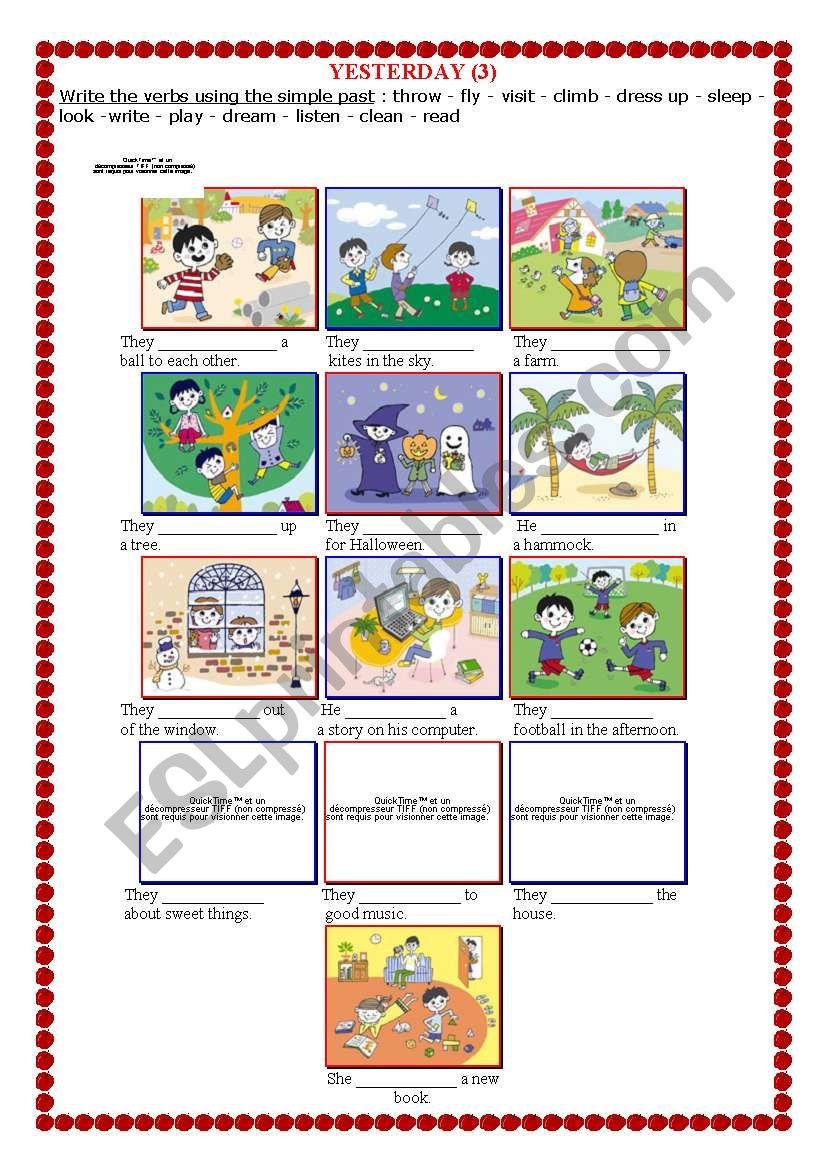 YESTERDAY (3) worksheet