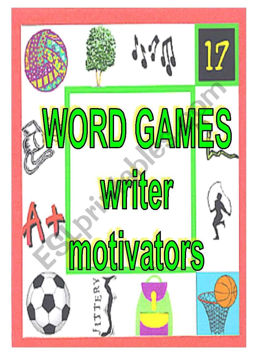 WORD GAMES - writer motivators