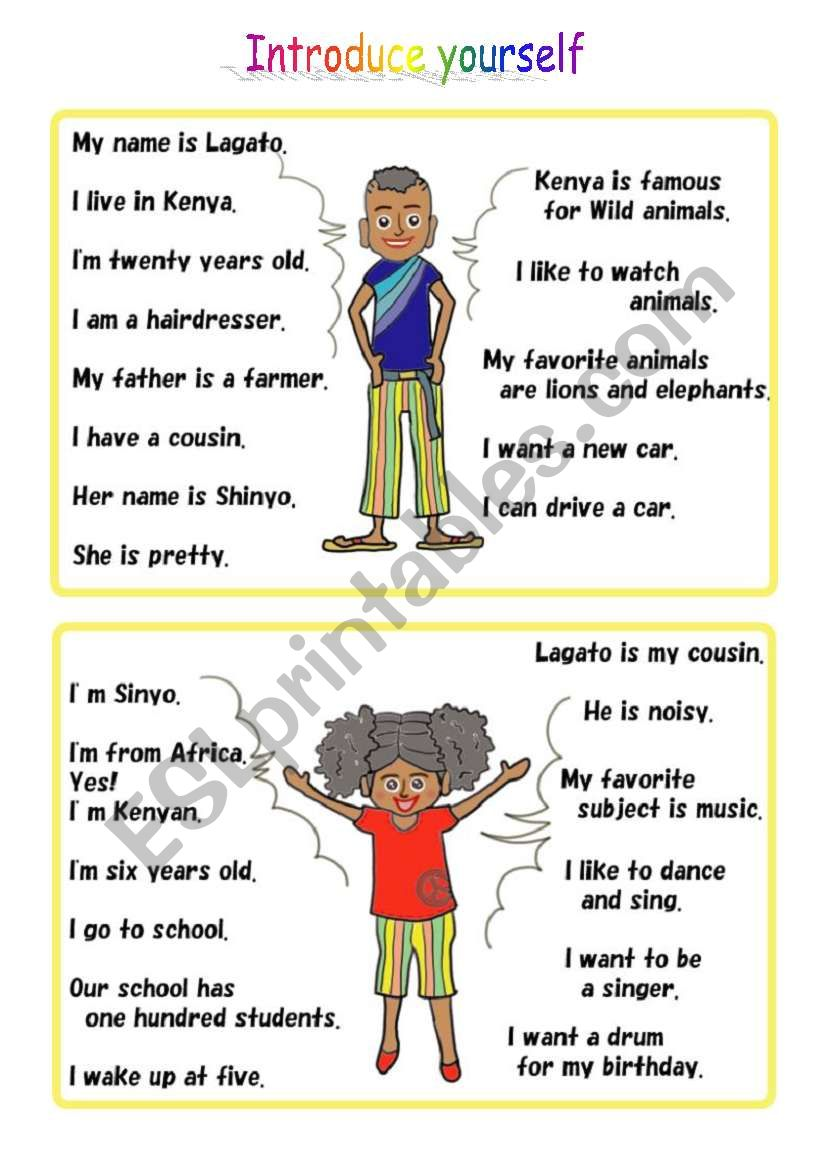 conversation activity using self introduction Part1