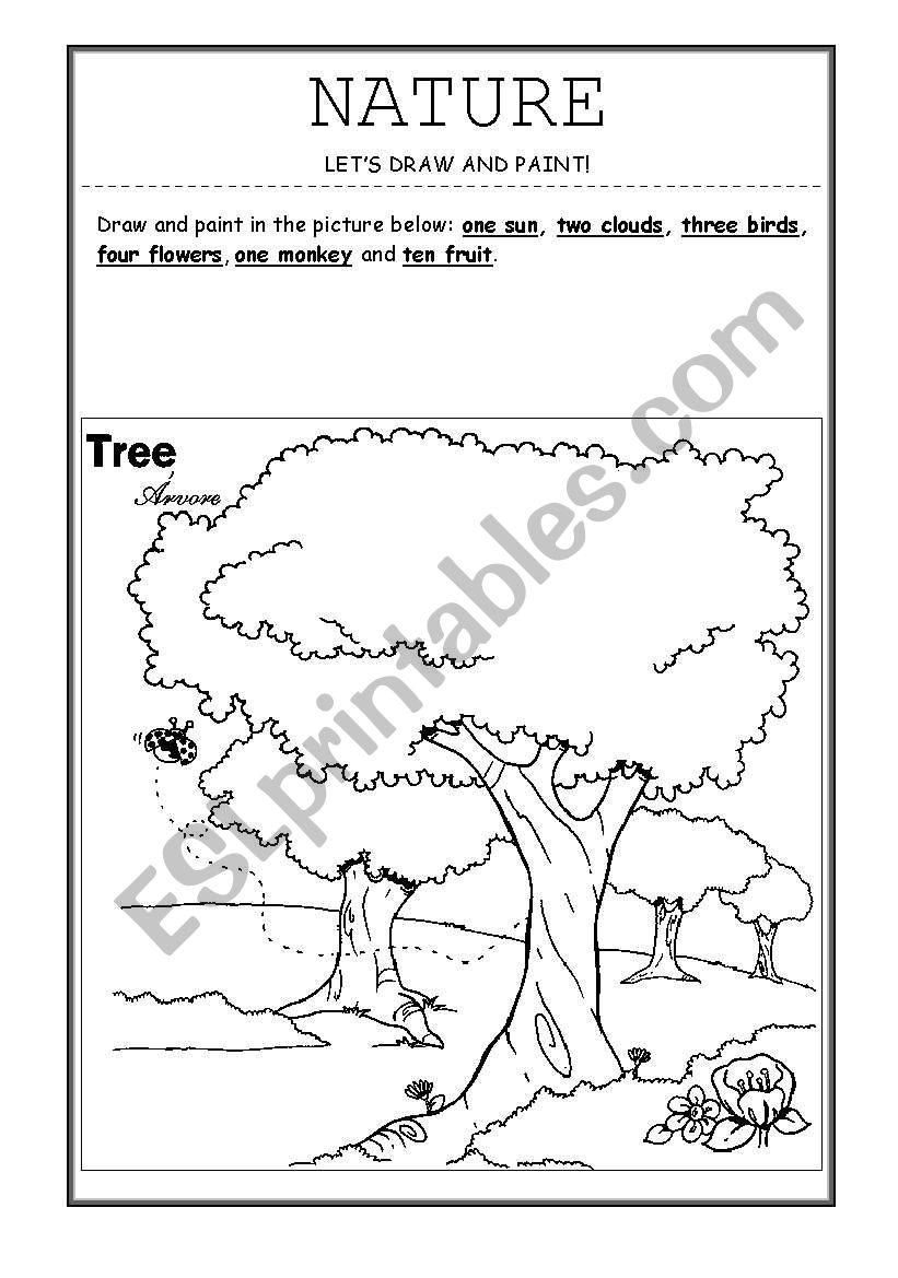 nature esl worksheet by teacher drica. Black Bedroom Furniture Sets. Home Design Ideas