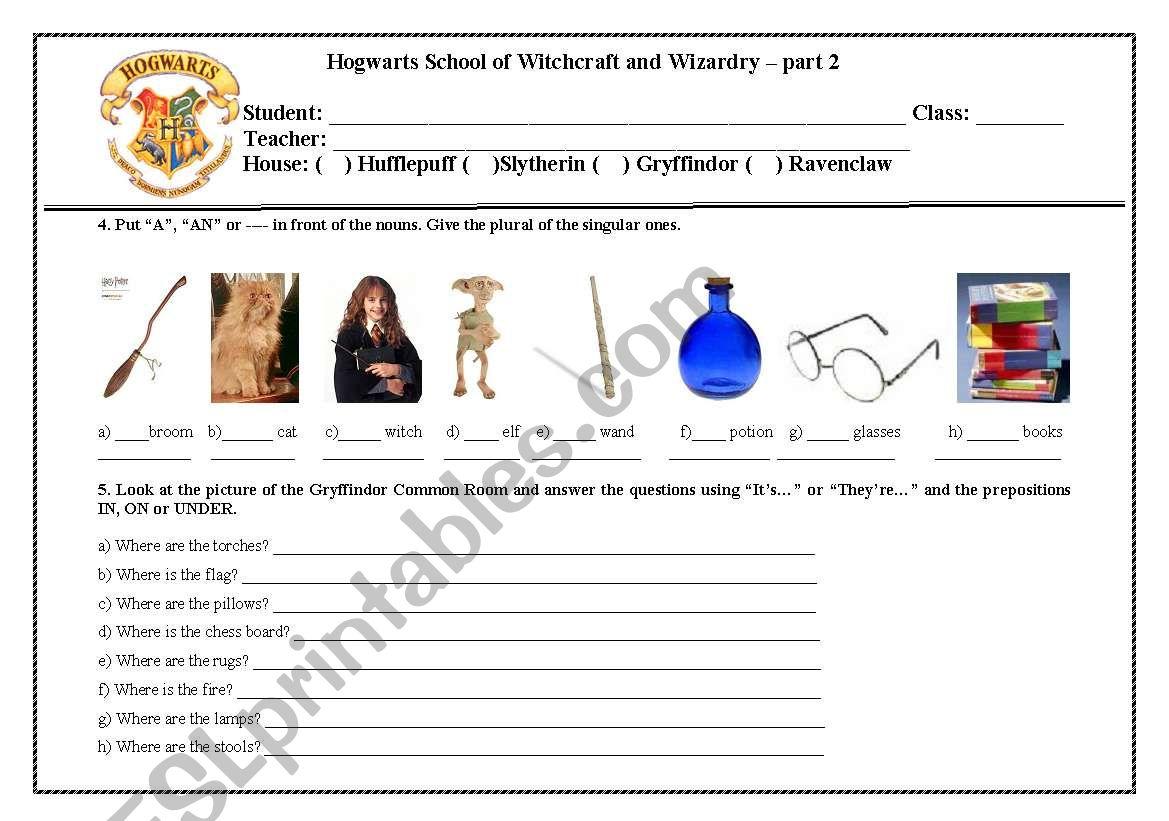 Harry Potter - Part 2 worksheet