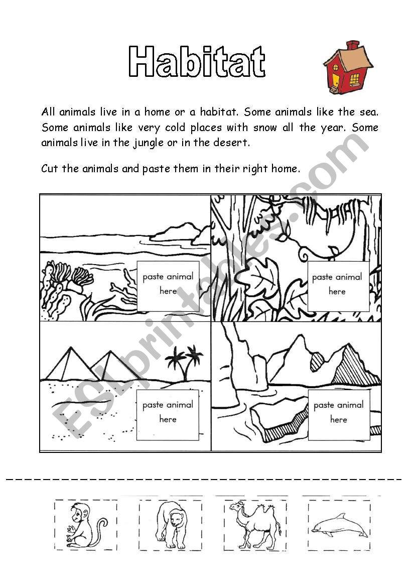 english worksheets animal homes. Black Bedroom Furniture Sets. Home Design Ideas