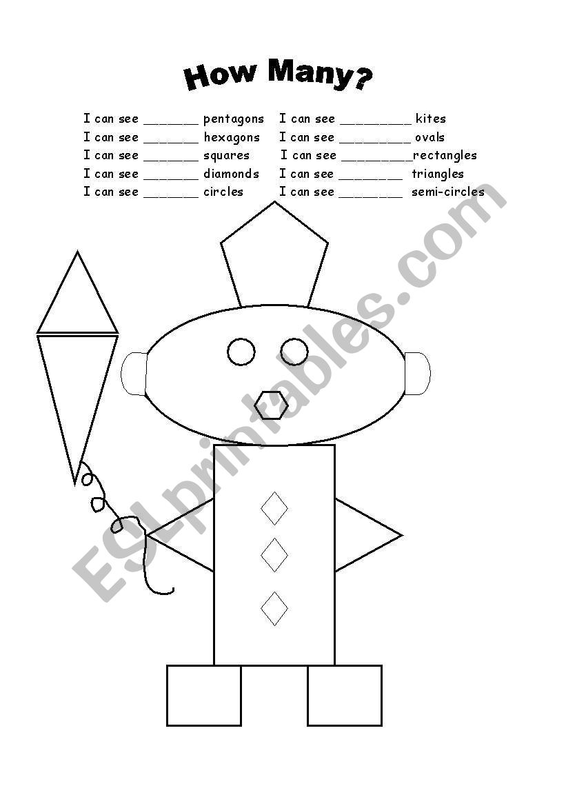 shapes and numbers esl worksheet by ramonaecono. Black Bedroom Furniture Sets. Home Design Ideas