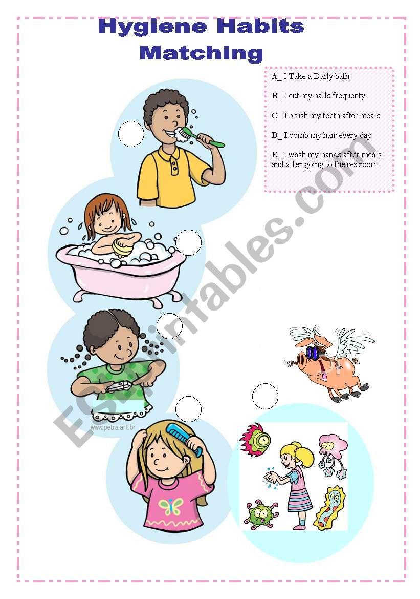 Hygiene Habits worksheet