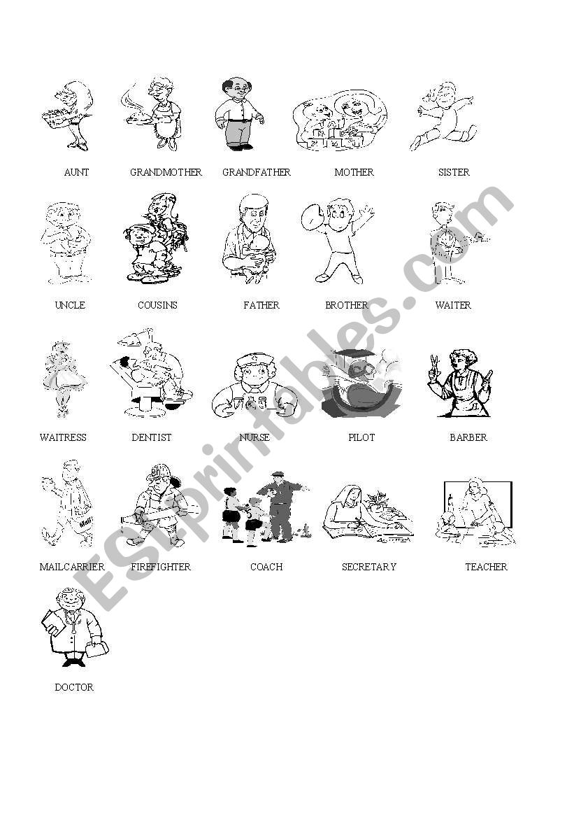 Family and Some Professions worksheet