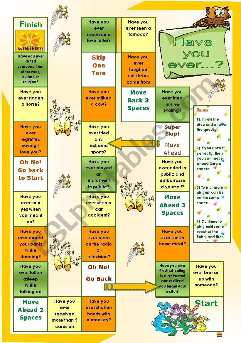 Have you ever...? worksheet