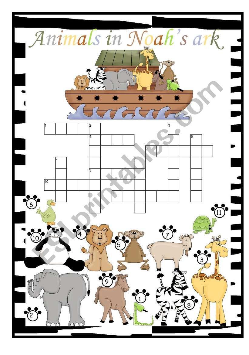 Animals in Noah´s ark crossword