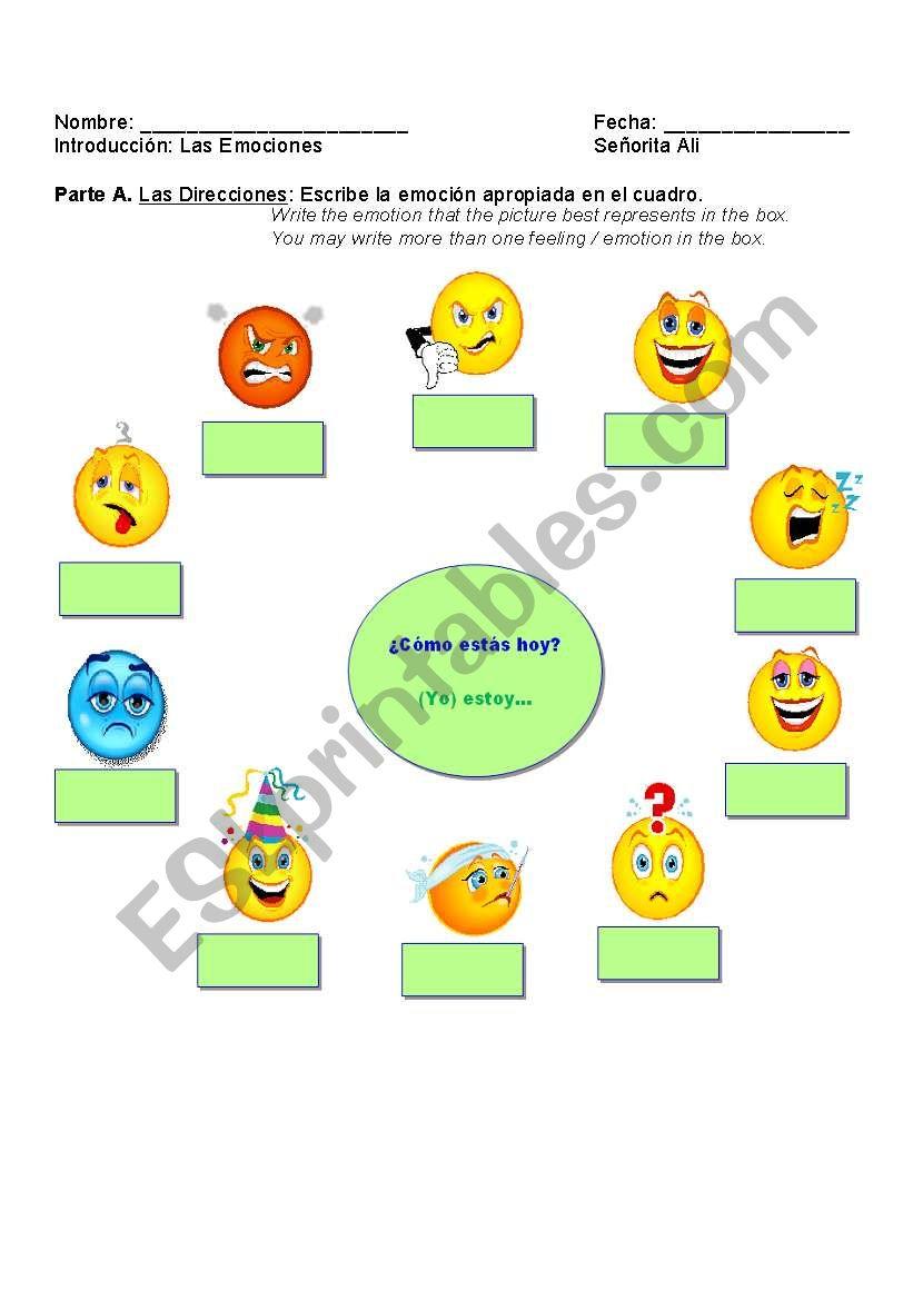 english worksheets  label feelings    emotions