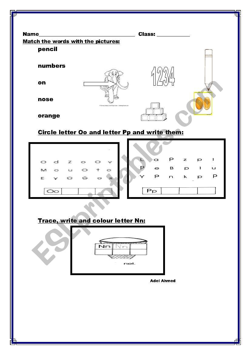 Teaching  Alphabets worksheet