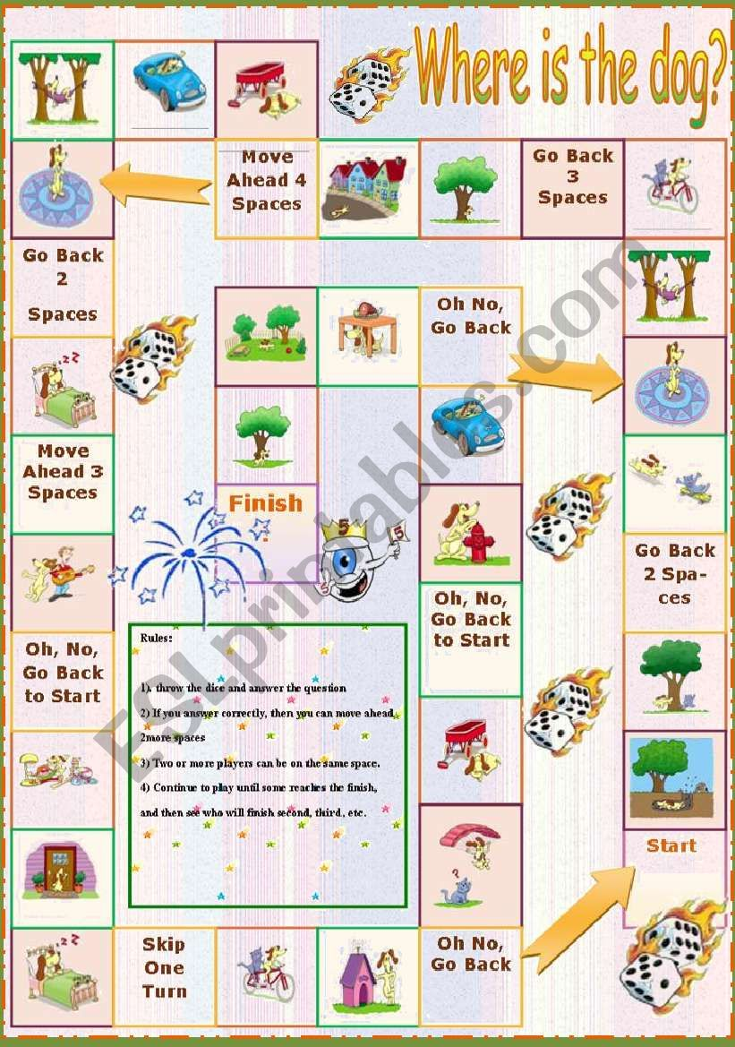 Where is the dog? worksheet