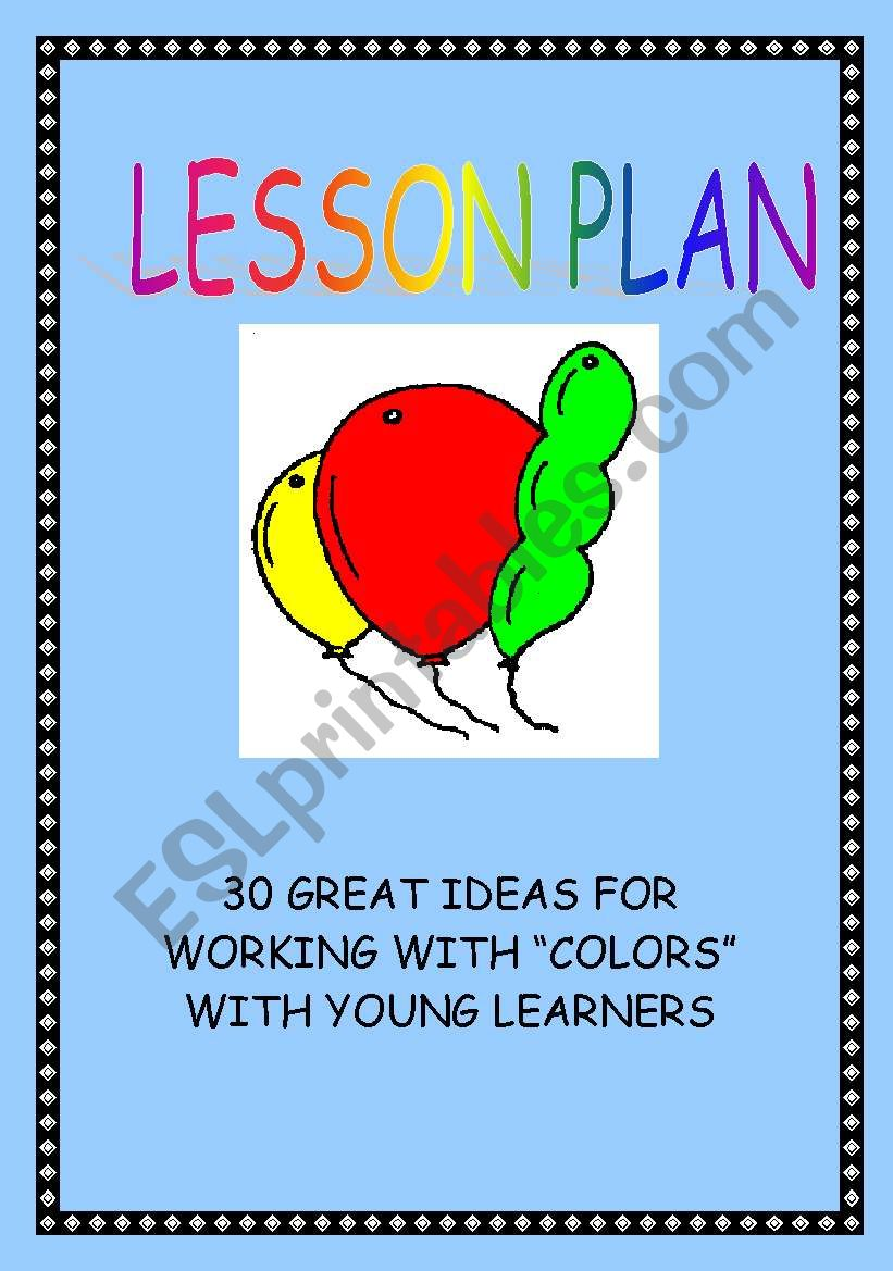 LESSON PLAN - COLORS worksheet