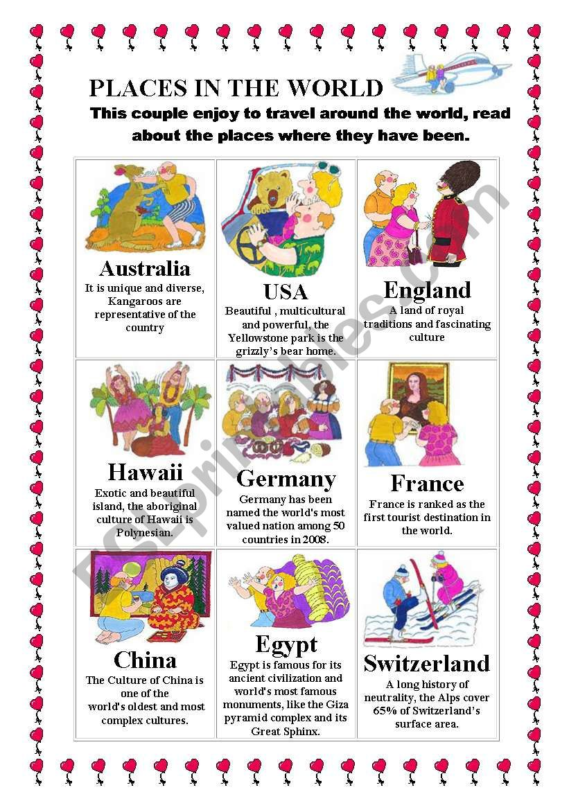 Places in the world Descriptions of interesting countries