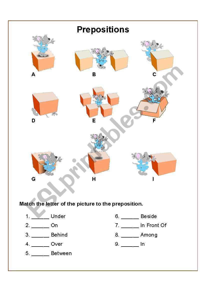 preposition of location worksheet pdf
