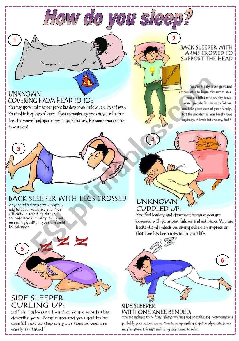 How do you sleep?  (fully editable)