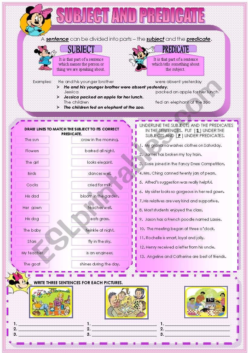 SENTENCE - ESL worksheet by mavic15