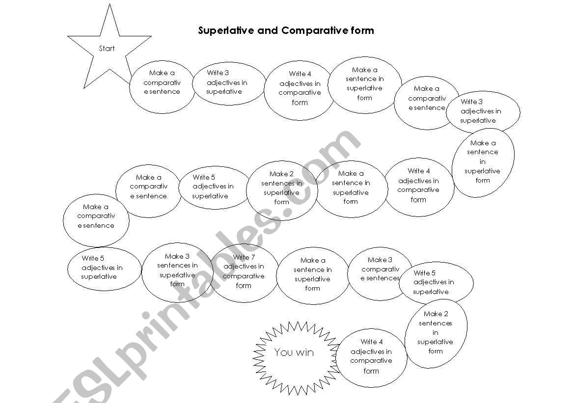 Superlative and comparative game