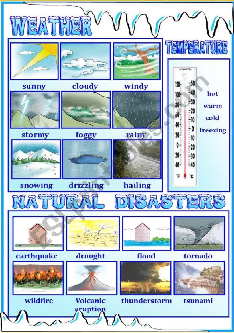 Weather / Natural Disasters worksheet