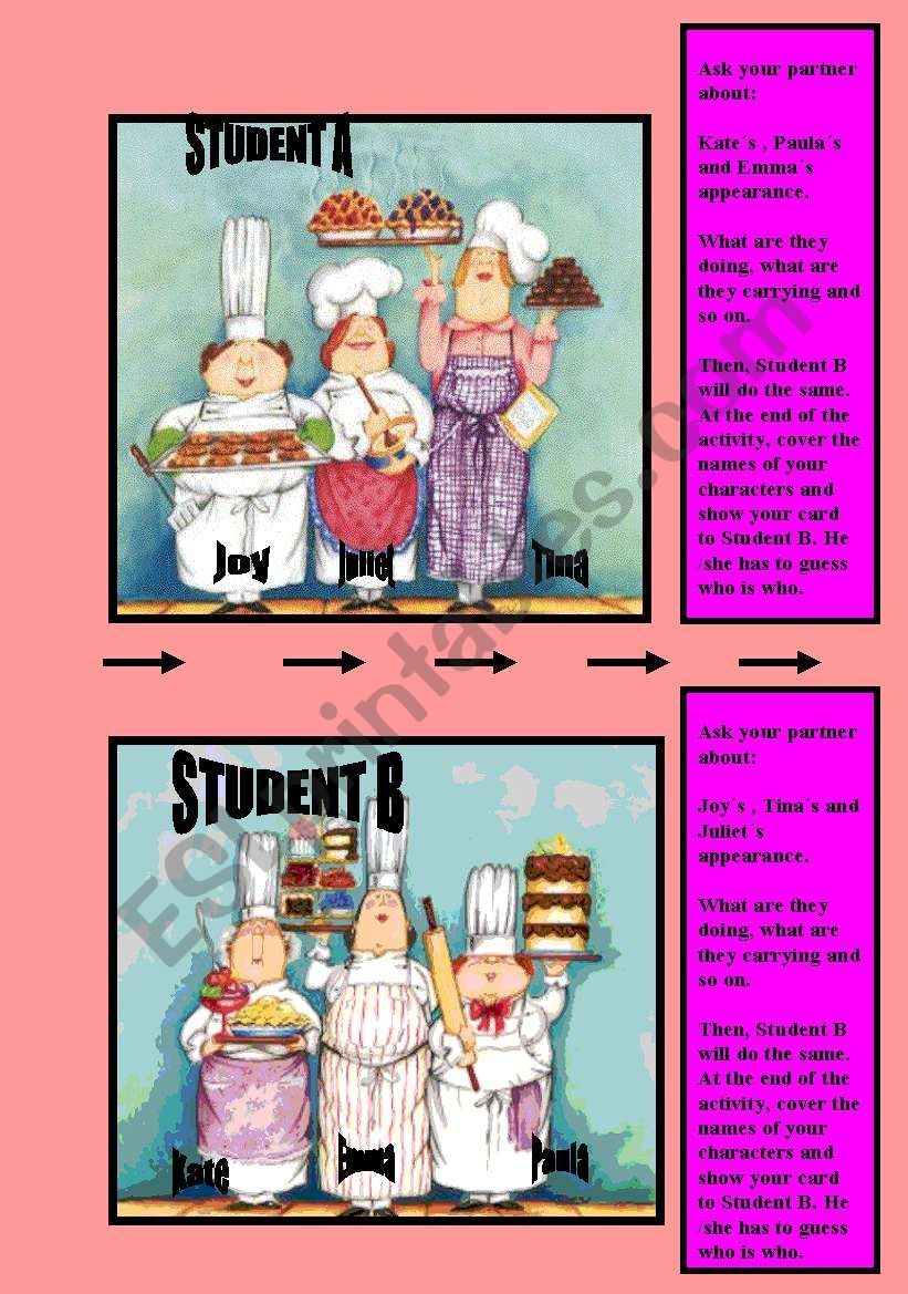 Speaking activity _ Student A-B  DESCRIBING AND GUESSING
